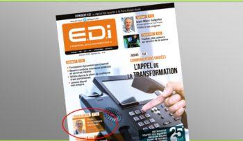 Couverture de la revue informatique EDI dans laquelle figure un article sur Conty