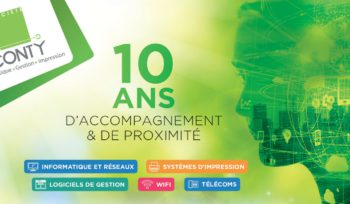 10 ans CONTY informatique Laval.