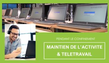 Maintien de l'activité installation de réseau informatique pendant le confinement